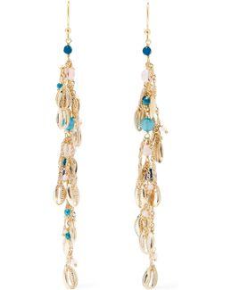 Tortuga Gold-tone Quartz Earrings