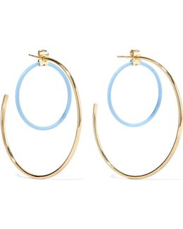 Renee Gold-plated Acetate Hoop Earrings
