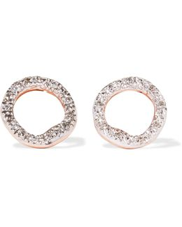 Riva Circle Rose Gold Vermeil Diamond Earrings