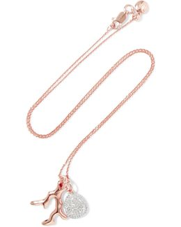 Rose Gold Vermeil Diamond Necklace