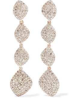Nura Rose Gold Vermeil Diamond Earrings