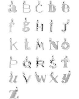 A-z Alphabet Letter Sterling Silver Pendants
