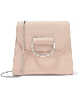 D Tiny Box Textured-leather Shoulder Bag