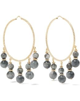 Recharmed 18-karat Gold Agate Hoop Earrings