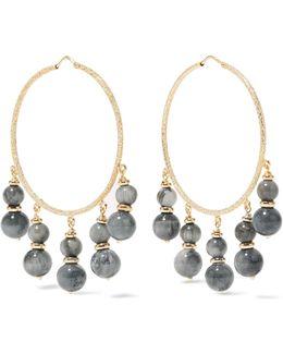 Recharmed 18-karat Gold Agate Hoop Earrings