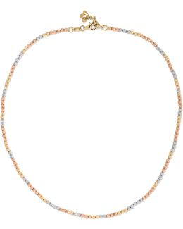 Discoball 18-karat Yellow, White And Rose Gold Choker