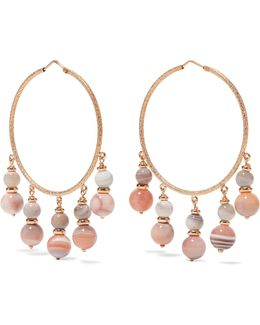Recharmed 18-karat Rose Gold Agate Hoop Earrings