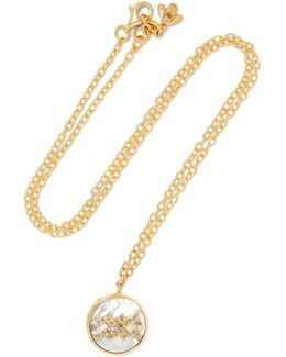 Aquarius Lucky 18-karat Gold Multi-stone Necklace