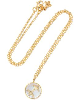 Sagittarius Lucky 18-karat Gold Multi-stone Necklace