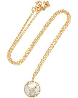 Taurus Lucky 18-karat Rose Gold Multi-stone Necklace