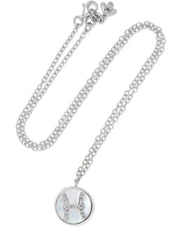 Scorpio Lucky 18-karat White Gold Multi-stone Necklace