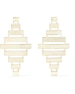 Stripe Gold-plated Earrings