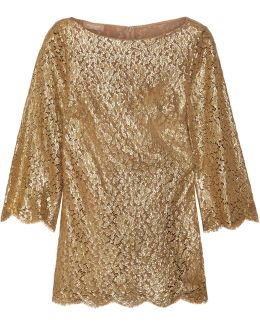 Metallic Guipure Lace Blouse