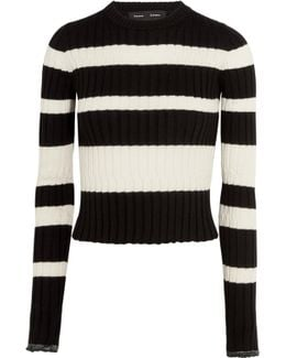 Striped Wool, Silk And Cashmere-blend Sweater