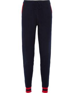 Cherry Intarsia Cashmere Track Pants