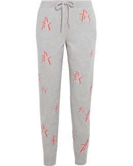 Intarsia Cashmere Track Pants