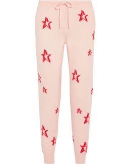 3d Star Intarsia Cashmere Track Pants