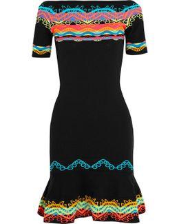 Intarsia Stretch-knit Dress