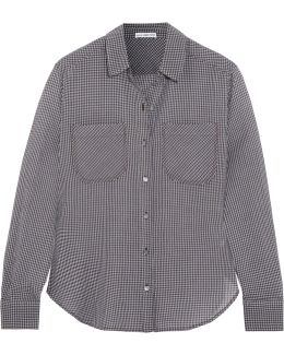 Little Boy Checked Cotton-voile Shirt