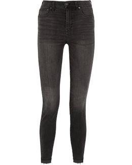 Frayed High-rise Skinny Jeans
