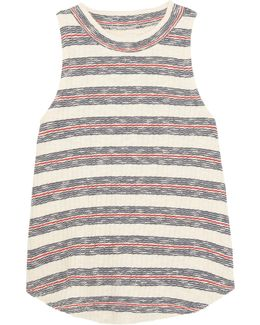 Dries Striped Ribbed Cotton-blend Tank