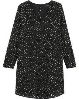 Star-print Silk Crepe De Chine Mini Dress