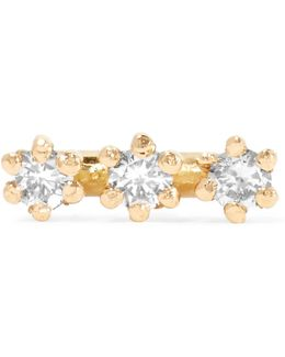 Wire 18-karat Gold Diamond Earring