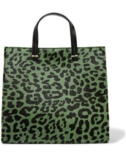 Petit Leopard-print Calf Hair And Leather Tote