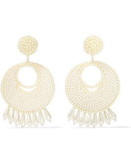 Faux Pearl Beaded Earrings