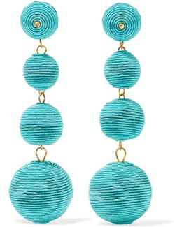 Gold-plated Cord Earrings