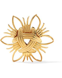 Gold-tone Brooch