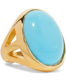 Gold-plated Turquoise Ring