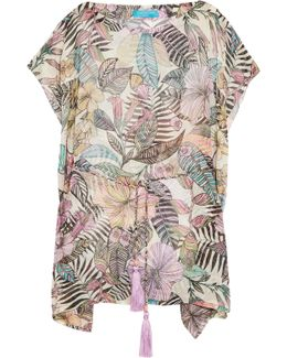 Kantuta Valley Printed Silk-chiffon Coverup