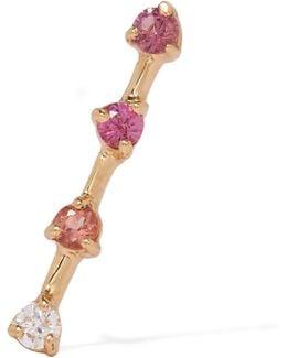14-karat Gold Multi-stone Earring