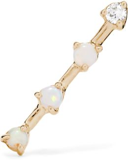 14-karat Gold, Opal And Diamond Earring