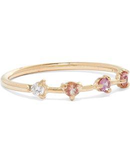 Four Step 14-karat Gold Multi-stone Ring