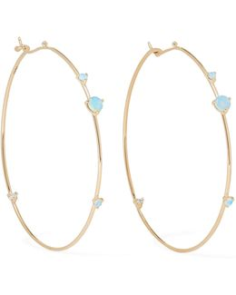 14-karat Gold, Opal And Diamond Earrings