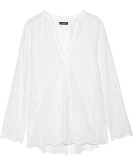 Ofeliah Broderie Anglaise Cotton Top