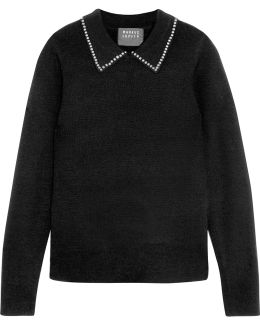 Lucie Studded Wool Sweater
