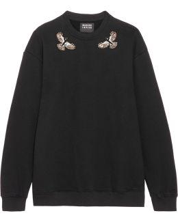 Daria Embellished Cotton-jersey Sweatshirt