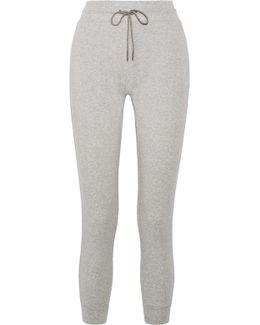 Cotton-blend Jersey Track Pants