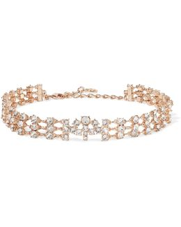 Rose Gold-tone Crystal Choker