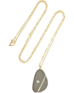 Alenka 18-karat Gold, Stone And Diamond Necklace