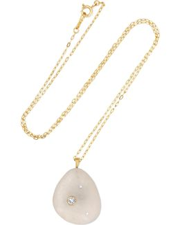Celia 18-karat Gold, Stone And Diamond Necklace