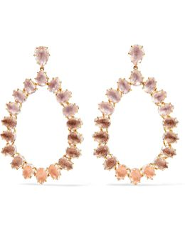 Caterina Large Gold-dipped Quartz Earrings