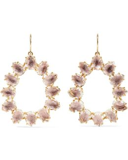 Caterina Small Gold-dipped Quartz Earrings