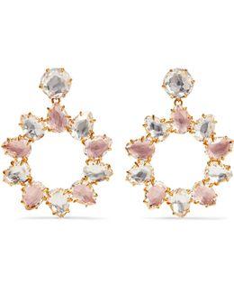 Caterina Pinwheel Gold-dipped Quartz Earrings