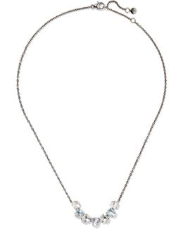 Caterina Garland Rhodium-dipped Quartz Necklace