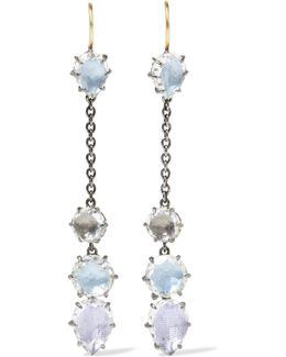 Caterina Rhodium-dipped Quartz Earrings