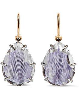 Caterina Rhodium-dipped Quartz Drop Earrings